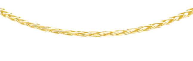 Gouden gevlochten ketting